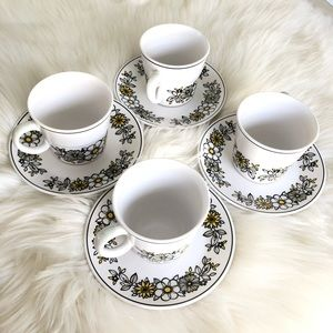 Noritake Progression Tressa 9029 Cups and Saucer
